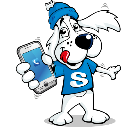 Slush Puppie with mobile phone